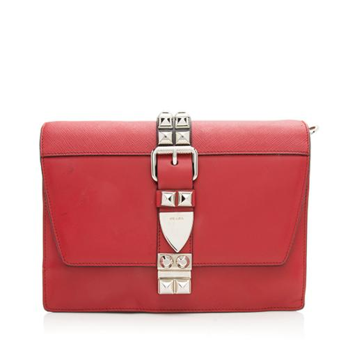 Prada Calfskin Elektra Studded Clutch - FINAL SALE