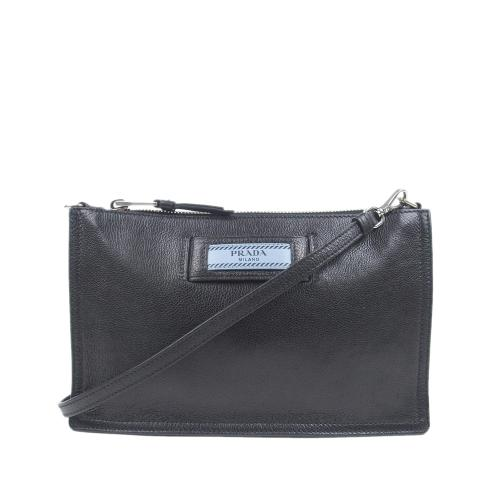 Prada Leather Etiquette Crossbody Bag
