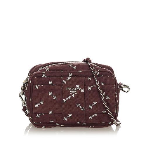 Prada Fiocco Bow Tessuto Crossbody Bag