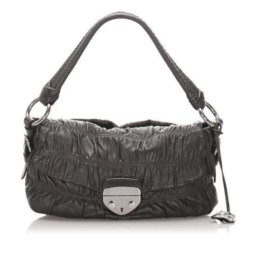 Prada Gaufre Leather Shoulder Bag