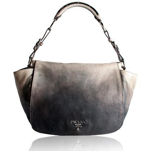 Prada Glace Calf Leather Shoulder Handbag