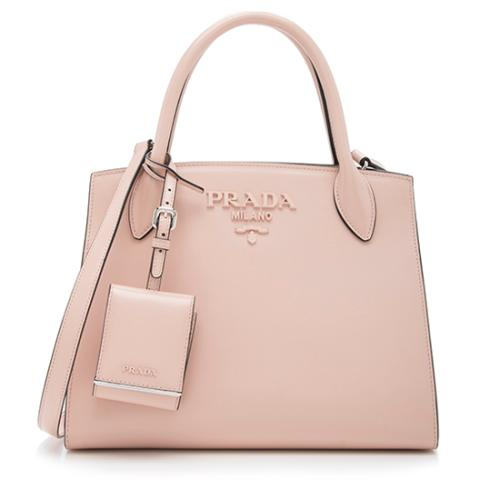 Prada Saffiano Cuir Leather Monochrome Tote