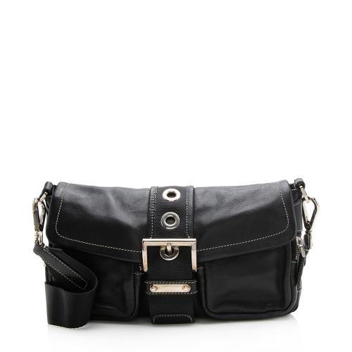 Prada Leather Buckle Shoulder Bag