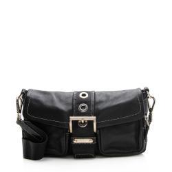 Prada Leather Buckle Shoulder Bag
