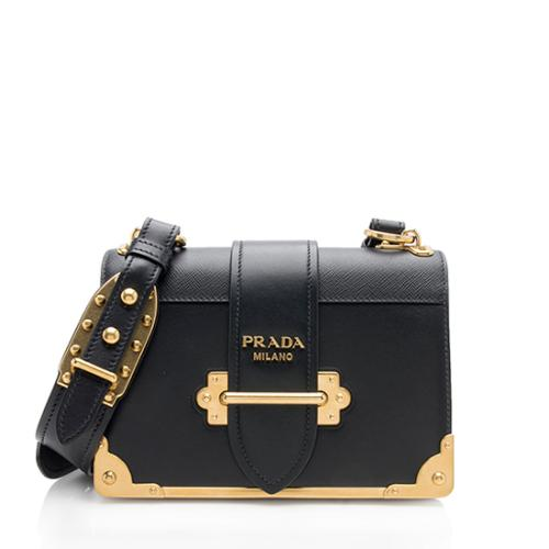 Prada Calfskin Cahier Shoulder Bag