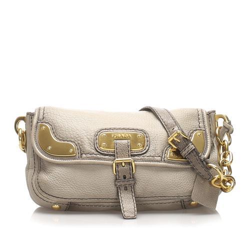 Prada Leather Chain Shoulder Bag