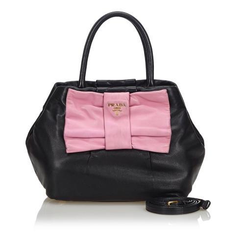 Prada Leather Fiocco Bow Satchel