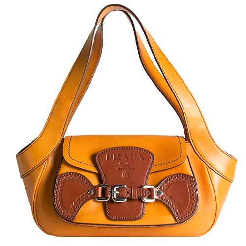 Prada Leather Flap Shoulder Handbag