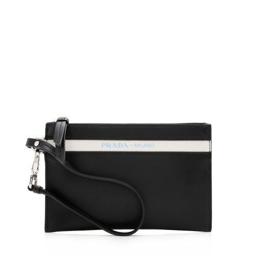 Prada Leather Lux Grace Ouverture Pochette