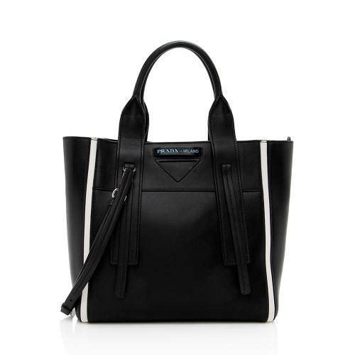 Prada Leather Lux Grace Ouverture Tote