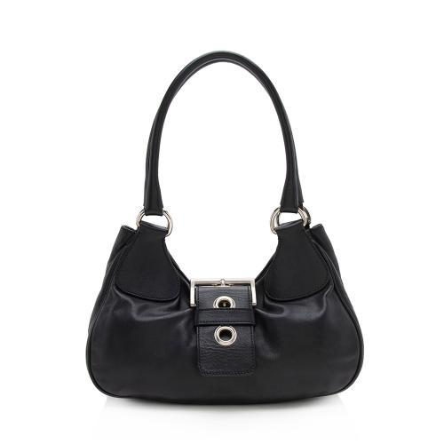 Prada Leather Moon Small Shoulder Bag