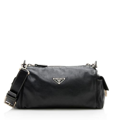 Prada Leather Pocket Shoulder Bag