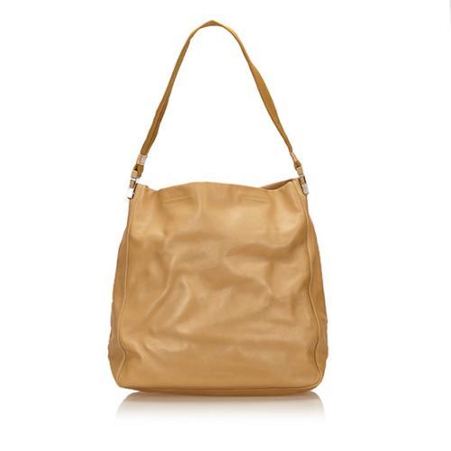 Prada Vintage Leather Buckle Shoulder Bag