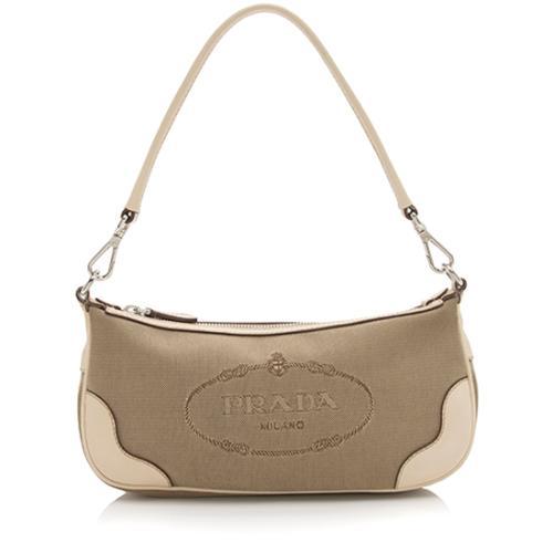 Prada Logo Jacquard Small Shoulder Bag