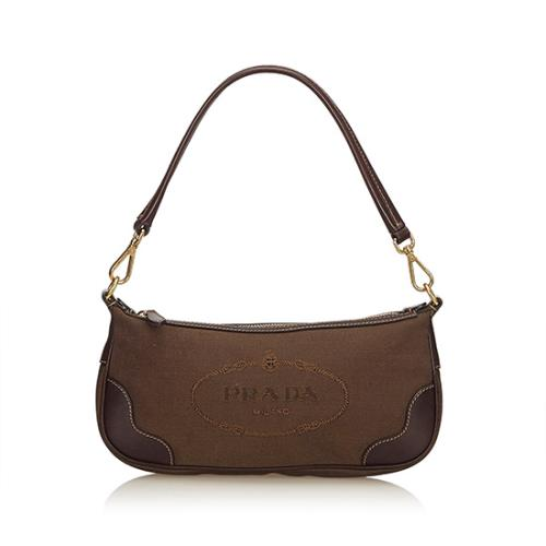 Prada Logo Jacquard Small Shoulder Bag