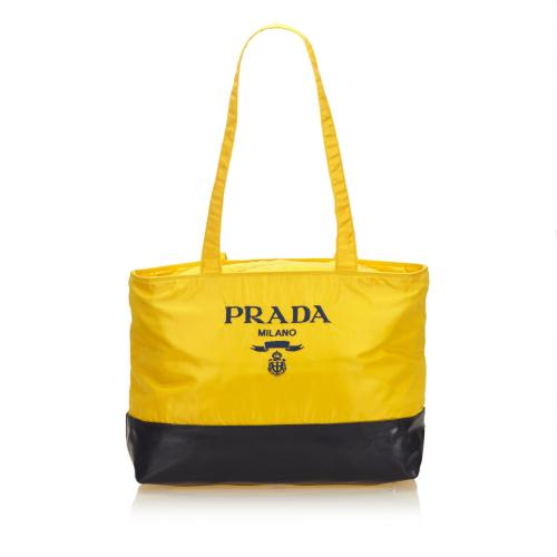 Prada Nylon Logo Shoulder Bag
