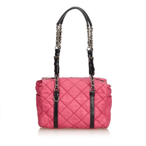 Prada Matelasse Nylon Chain Shoulder Bag