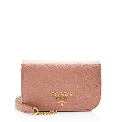 Prada Metallic Saffaino Lux Chain Bag