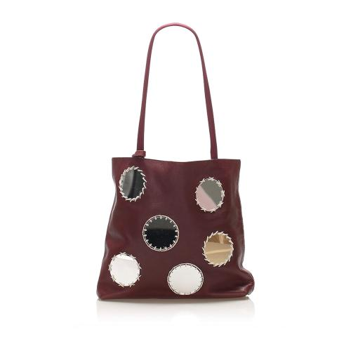 Prada Mirror Leather Tote Bag