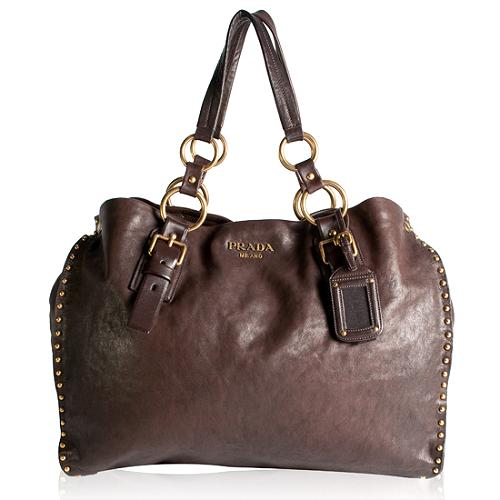 Prada Napa Leather Aviator Satchel Handbag