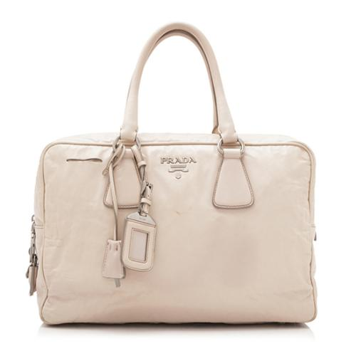 Prada Antique Nappa Leather Bauletto Satchel