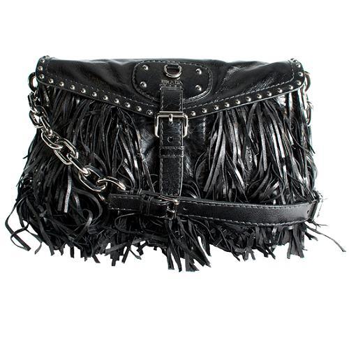 Prada Nappa Fringe Shoulder Handbag