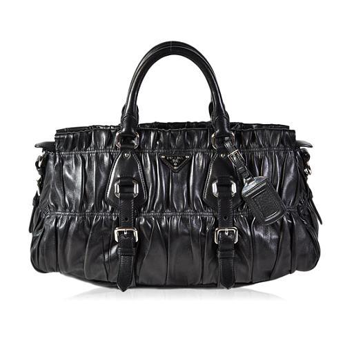 Prada Nappa Gaufre Antic Satchel Handbag