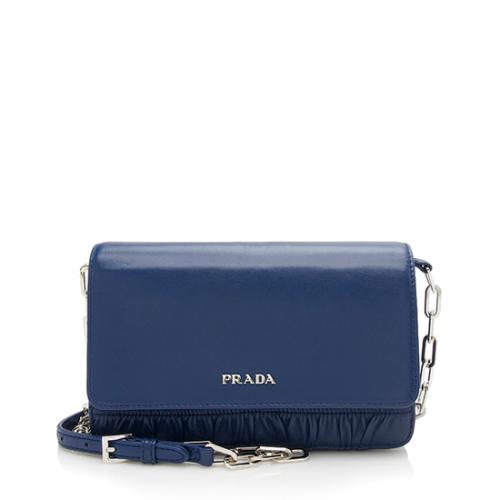 Prada Nappa Gaufre Chain Shoulder Bag