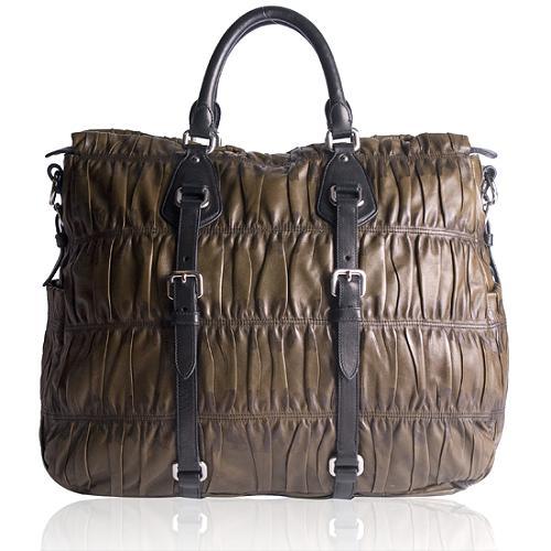 Prada Nappa Gaufre Convertible Satchel Handbag