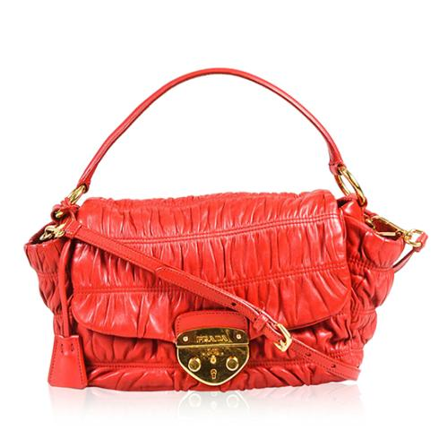 Prada Nappa Gaufre Flap Shoulder Bag - FINAL SALE