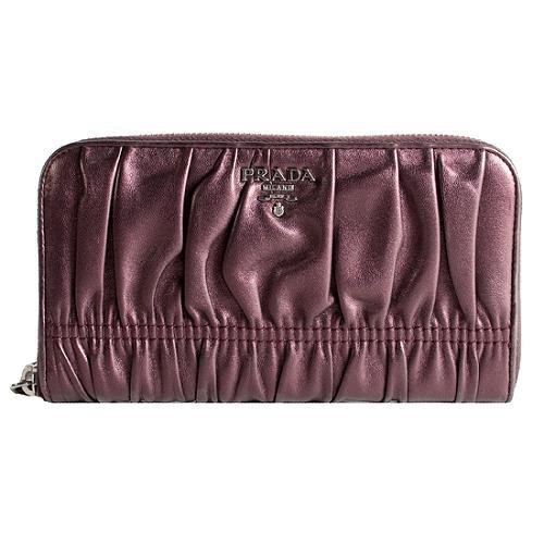 Prada Nappa Gaufre Zip Wallet