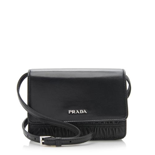 Prada Nappa Leather Gaufre Box Clutch