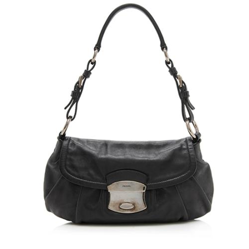 Prada Nappa Leather Push Lock Pochette