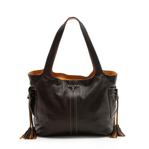 Prada Nappa Leather Tassel Shoulder Bag