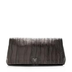 Prada Nappa Leather Waves Clutch