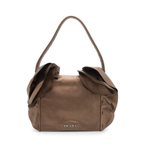 Prada Nappa Leather Ruffled Shoulder Bag - FINAL SALE