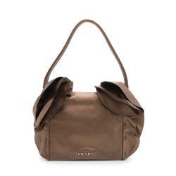 Prada Nappa Leather Ruffled Shoulder Bag - FINAL SALE