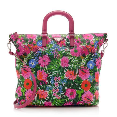 12c2f2904430 Prada-Nylon-Floral-Print-Tote 75626 front large 1.jpg