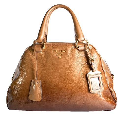 Prada Ombre Leather Box Satchel Handbag