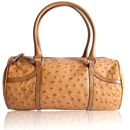 Prada Ostrich Satchel Handbag