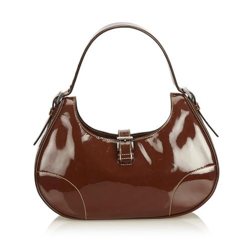 Prada Patent Leather Hobo