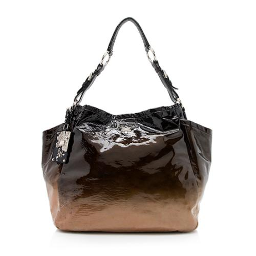 Prada Patent Leather Ombre Shopping Tote