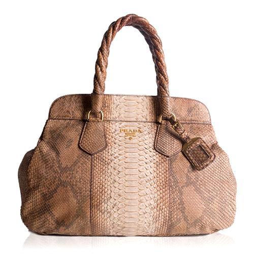 Prada Pitone Frame Satchel Handbag