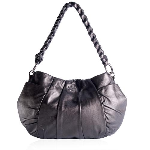 Prada Pleated Leather Handbag