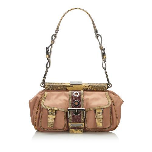 Prada Python Leather Shoulder Bag