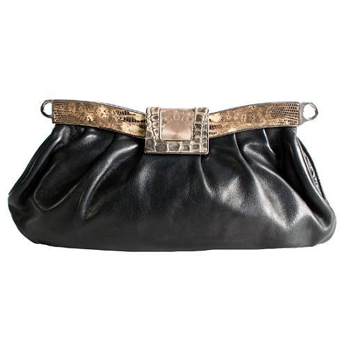 Prada Python Trim Frame Shoulder Handbag