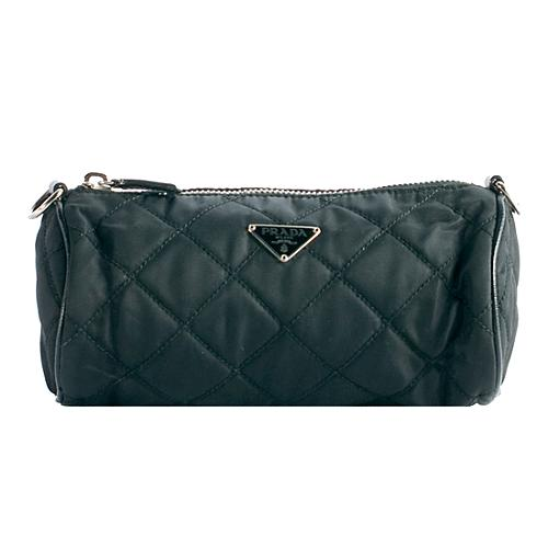 Prada Quilted Clutch With Shoulder Strap