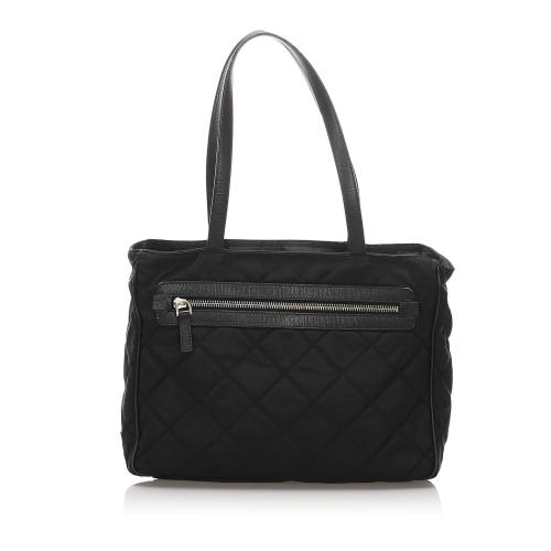 Prada Quilted Tessuto Chain Tote Bag
