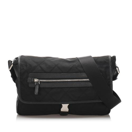 Prada Quilted Tessuto Crossbody Bag