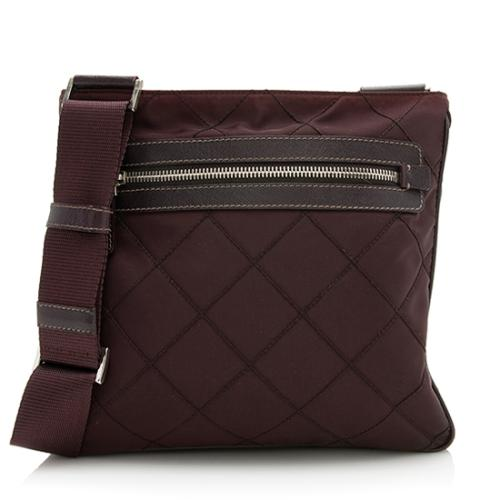 Prada Quilted Tessuto Messenger Bag